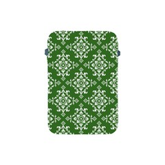 St Patrick S Day Damask Vintage Green Background Pattern Apple Ipad Mini Protective Soft Cases by Simbadda