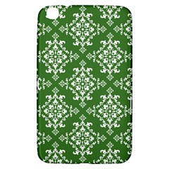 St Patrick S Day Damask Vintage Green Background Pattern Samsung Galaxy Tab 3 (8 ) T3100 Hardshell Case  by Simbadda