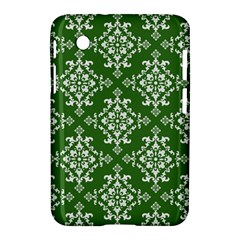 St Patrick S Day Damask Vintage Green Background Pattern Samsung Galaxy Tab 2 (7 ) P3100 Hardshell Case  by Simbadda