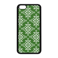 St Patrick S Day Damask Vintage Green Background Pattern Apple Iphone 5c Seamless Case (black) by Simbadda