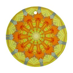Sunshine Sunny Sun Abstract Yellow Ornament (round) by Simbadda