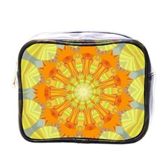 Sunshine Sunny Sun Abstract Yellow Mini Toiletries Bags by Simbadda