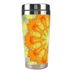 Sunshine Sunny Sun Abstract Yellow Stainless Steel Travel Tumblers by Simbadda