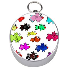 Fishes Marine Life Swimming Water Silver Compasses