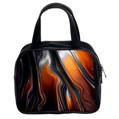 Fractal Structure Mathematics Classic Handbags (2 Sides) by Simbadda