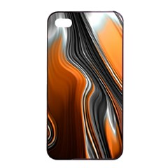 Fractal Structure Mathematics Apple Iphone 4/4s Seamless Case (black) by Simbadda