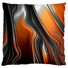 Fractal Structure Mathematics Large Cushion Case (two Sides) by Simbadda