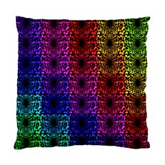 Rainbow Grid Form Abstract Standard Cushion Case (one Side) by Simbadda