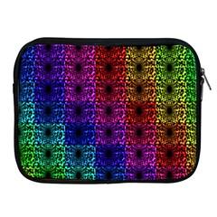 Rainbow Grid Form Abstract Apple Ipad 2/3/4 Zipper Cases by Simbadda