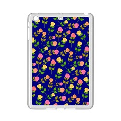 Flowers Roses Floral Flowery Blue Background Ipad Mini 2 Enamel Coated Cases by Simbadda