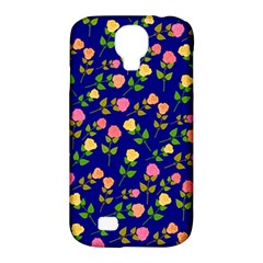 Flowers Roses Floral Flowery Blue Background Samsung Galaxy S4 Classic Hardshell Case (pc+silicone) by Simbadda