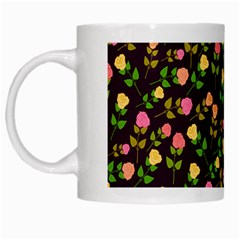 Flowers Roses Floral Flowery White Mugs by Simbadda