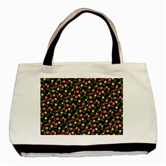 Flowers Roses Floral Flowery Basic Tote Bag (two Sides) by Simbadda