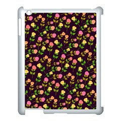 Flowers Roses Floral Flowery Apple Ipad 3/4 Case (white) by Simbadda