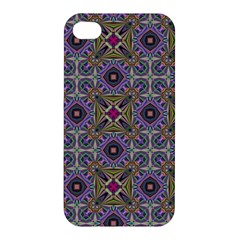 Vintage Abstract Unique Original Apple Iphone 4/4s Premium Hardshell Case by Simbadda