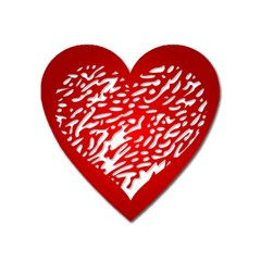 Heart Design Love Red Heart Magnet by Simbadda