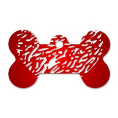 Heart Design Love Red Dog Tag Bone (two Sides) by Simbadda