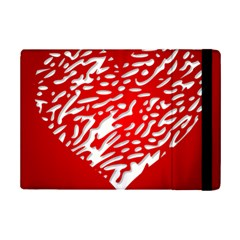 Heart Design Love Red Ipad Mini 2 Flip Cases by Simbadda