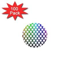 Half Circle 1  Mini Buttons (100 Pack)  by Simbadda
