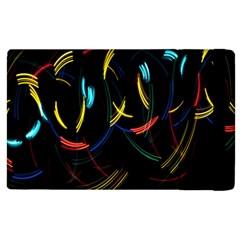 Yellow Blue Red Arcs Light Apple Ipad 3/4 Flip Case by Alisyart