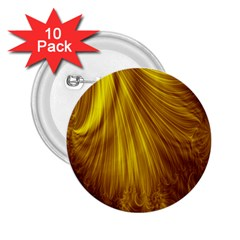 Flower Gold Hair 2 25  Buttons (10 Pack)  by Alisyart