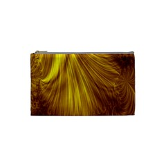 Flower Gold Hair Cosmetic Bag (small)  by Alisyart