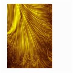 Flower Gold Hair Large Garden Flag (two Sides) by Alisyart