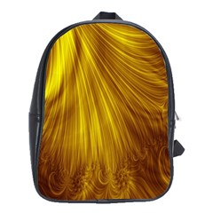 Flower Gold Hair School Bags (xl)  by Alisyart