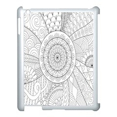 Flower Rose Flowering Sunflower Black Apple Ipad 3/4 Case (white) by Alisyart