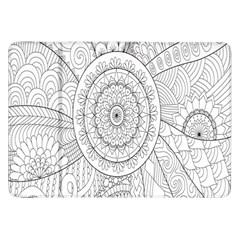 Flower Rose Flowering Sunflower Black Samsung Galaxy Tab 8.9  P7300 Flip Case