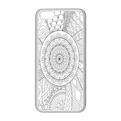 Flower Rose Flowering Sunflower Black Apple Iphone 5c Seamless Case (white) by Alisyart