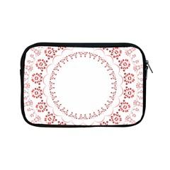 Floral Frame Pink Red Star Leaf Flower Apple Ipad Mini Zipper Cases by Alisyart