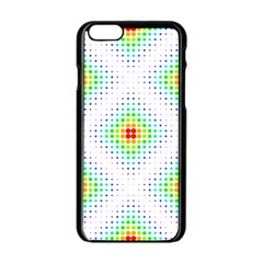 Color Square Apple Iphone 6/6s Black Enamel Case by Simbadda