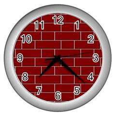 Flemish Bond Wall Clocks (silver)  by Simbadda