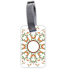 Frame Floral Tree Flower Leaf Star Circle Luggage Tags (two Sides) by Alisyart