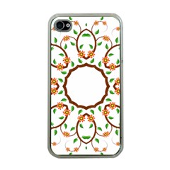 Frame Floral Tree Flower Leaf Star Circle Apple Iphone 4 Case (clear) by Alisyart