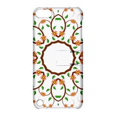 Frame Floral Tree Flower Leaf Star Circle Apple Ipod Touch 5 Hardshell Case With Stand by Alisyart