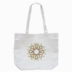 Frame Floral Tree Flower Leaf Star Circle Tote Bag (white) by Alisyart