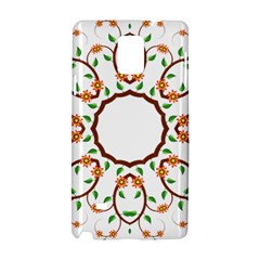 Frame Floral Tree Flower Leaf Star Circle Samsung Galaxy Note 4 Hardshell Case by Alisyart
