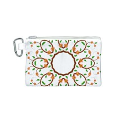 Frame Floral Tree Flower Leaf Star Circle Canvas Cosmetic Bag (s) by Alisyart