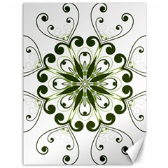 Frame Flourish Flower Green Star Canvas 36  X 48   by Alisyart