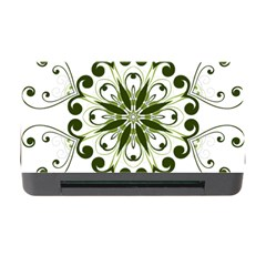 Frame Flourish Flower Green Star Memory Card Reader With Cf by Alisyart