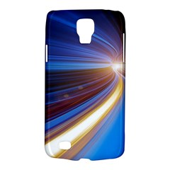 Glow Motion Lines Light Blue Gold Galaxy S4 Active by Alisyart