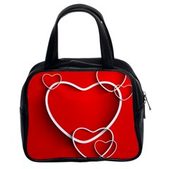 Heart Love Valentines Day Red Classic Handbags (2 Sides) by Alisyart