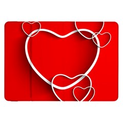 Heart Love Valentines Day Red Samsung Galaxy Tab 8 9  P7300 Flip Case by Alisyart