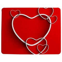 Heart Love Valentines Day Red Jigsaw Puzzle Photo Stand (rectangular) by Alisyart