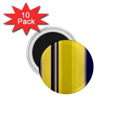 Yellow Blue Background Stripes 1 75  Magnets (10 Pack)  by Simbadda