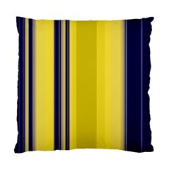 Yellow Blue Background Stripes Standard Cushion Case (one Side) by Simbadda