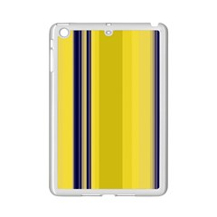Yellow Blue Background Stripes iPad Mini 2 Enamel Coated Cases by Simbadda