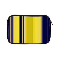 Yellow Blue Background Stripes Apple iPad Mini Zipper Cases by Simbadda